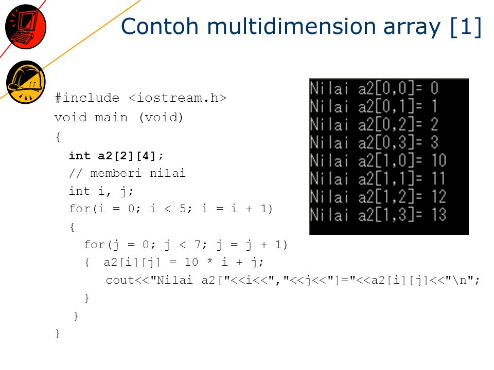 Contoh multidimension array [1]